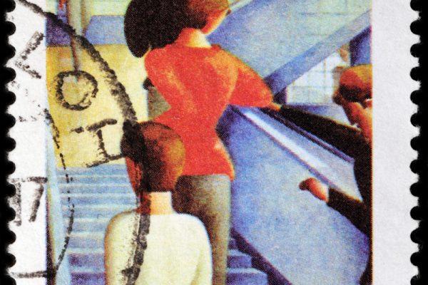 Ein Postkartendesign des Stuttgarters Oskar Schlemmer