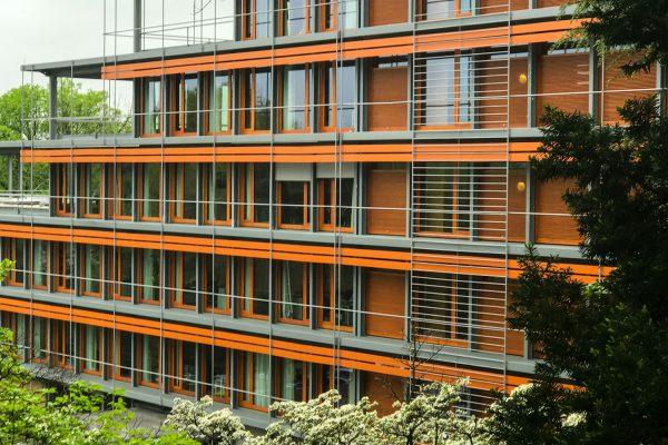 Die deutsche Botschaft in Washigton DC, entworfen von dem sich an der Bauhaus Schule orientierenden Architekten Egon Eiermann.
